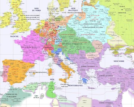 carte europe 6eme siecle