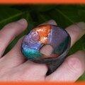 Bagues cèpe coloré