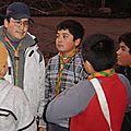 Los scouts del Grupo J.Sevin con su dirigente Beto M.