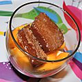 Les seychelles en verrine: fondant coco et tartare de mangue au citron vert