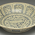 Vietnamese dish with bird-and-flower dcor in underglaze blue. Late 15th-early 16th centuries