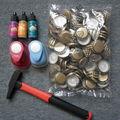 Embellissements recup : capsules et boutons