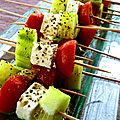Mini brochettes grecques