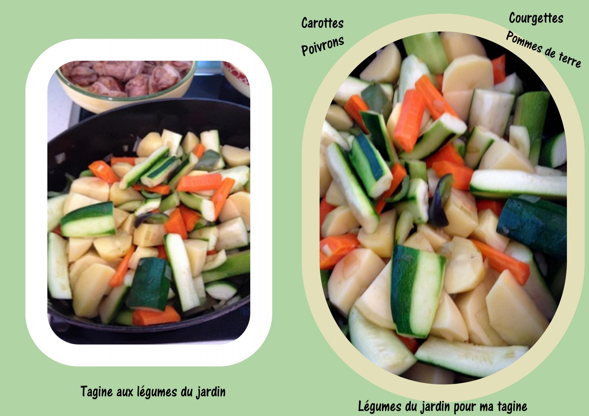 Tagine aux légumes de mon jardin