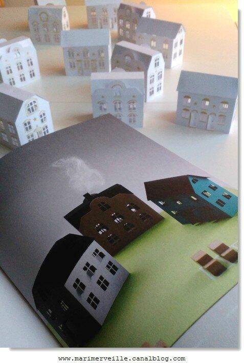 petites maisons du livre I love paper- marimerveille
