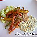 Pavés de saumon et sa tempura de légumes ( à la plancha )