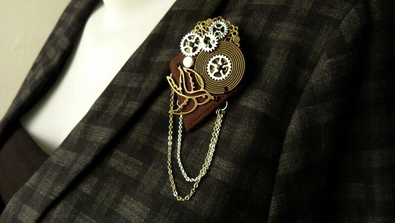 steampunk broche sparrow (6)
