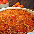 Tarte abricots sur pâte sucrée et crème noisette-pistache