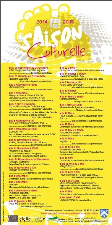 Saison culturelle 2014-2015 à Nogent-le-Roi... ça bouge, ça bouge, tout le temps...