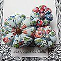 ♥ stellina ♥ broche textile hippie chic fleurs potirons - les yoyos de calie