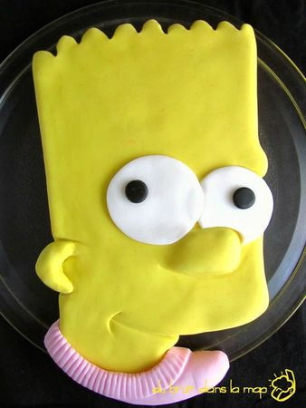 gateau bart simpson cake