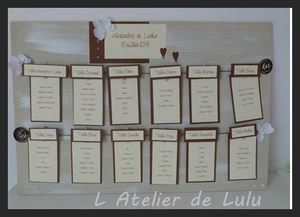 plan de table orchidee chocolat