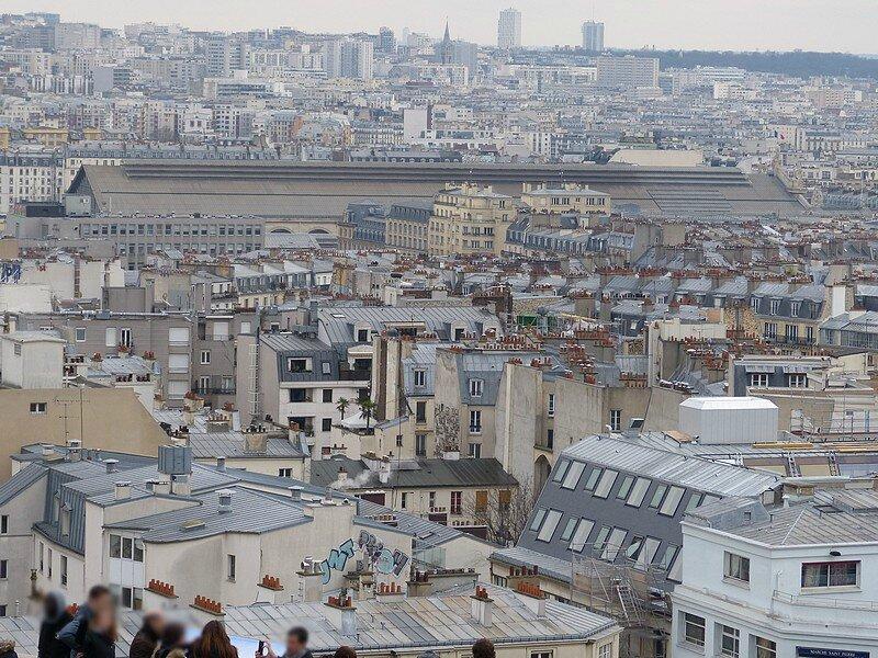 VUE DEPUIS M SUR PARIS 18