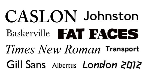 Assez Un peu de typographie - Londres calling SD85