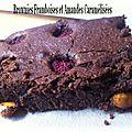 Brownies framboises - amandes caramelisees