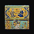 Carreau à scènes figuratives, ispahan, 18e-19e siècle