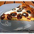 TARTE AUX CERISES ET AUX AMANDES 