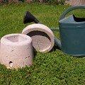 Abri surélevé pour compteur d'eau radio en zone pâtures