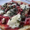 Bruschetta jambon / tomate /champignon / mozzarella