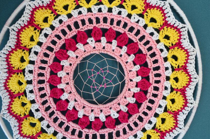 Attrape rêve-mandala -crochet-La chouette bricole (7)