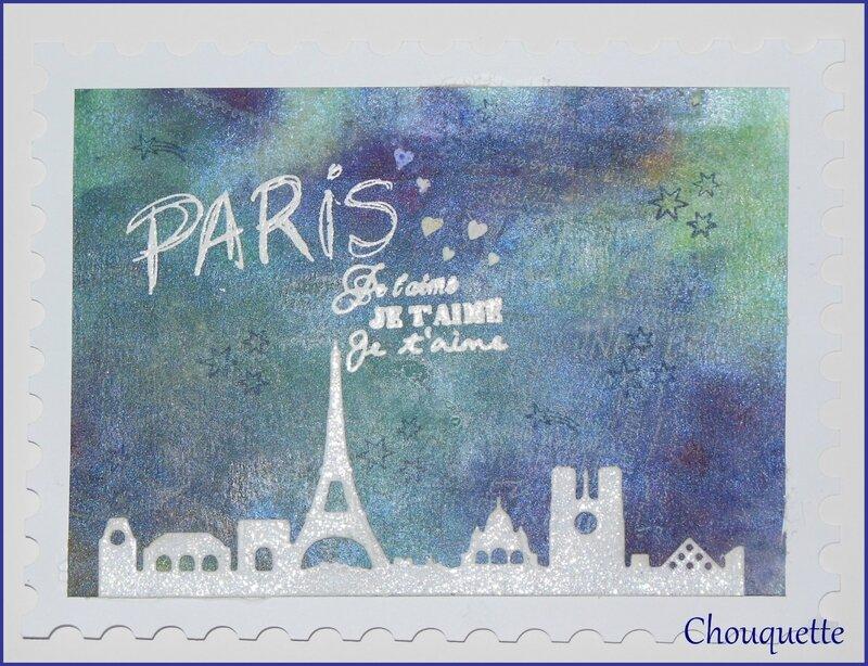 carte Paris je t'aime
