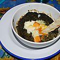 Oeuf cocotte-version épinard