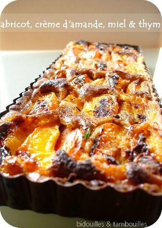 tarte abricot amande miel thym 080711