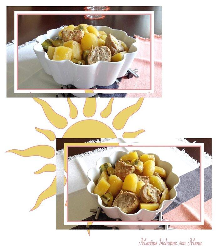 filet mignon, courgettes et pdt au miel en multicuiseur