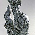 Phoenix-shaped Vessel. Stoneware, blue and white ware. Vietnam, L dynasty, c. 1500