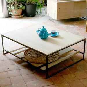 table basse week end maison chene acier brut (6)