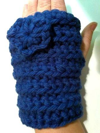 mitaines bleues