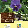[concours surprise] la fête des plantes et de l'environnement, c'est le 8 mai 2013 aux jardins de coursiana !