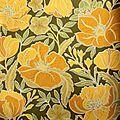 1 rouleau de papier peint vintage à fleurs