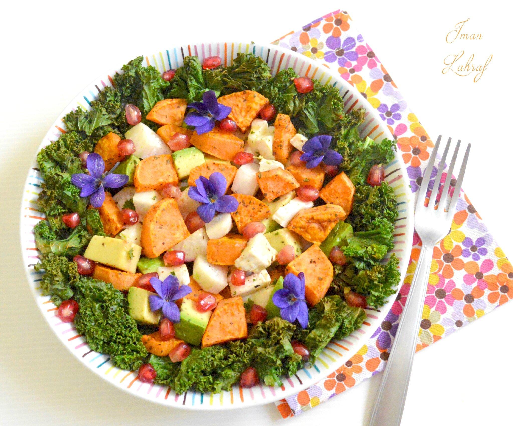 Salade sucrée-salée, colorée & vitaminée