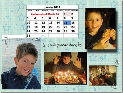 calendrier 2011 janvier 15x20