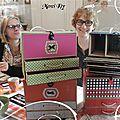 Reçue de Kty la boîte rose & vert * Noël 2015