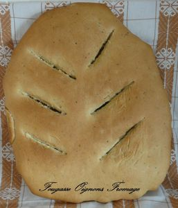 Fougasse Oignons Fromage