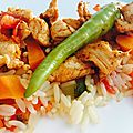 Poulets tandoori au petits légumes