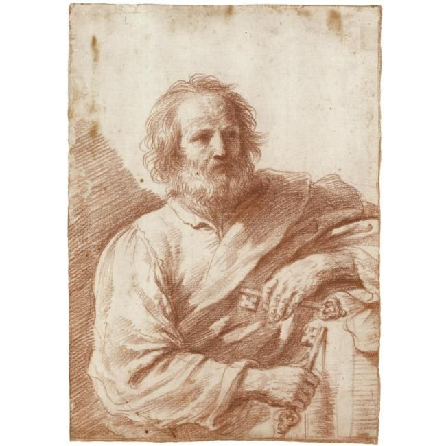 three drawings of giovanni francesco barbieri called il