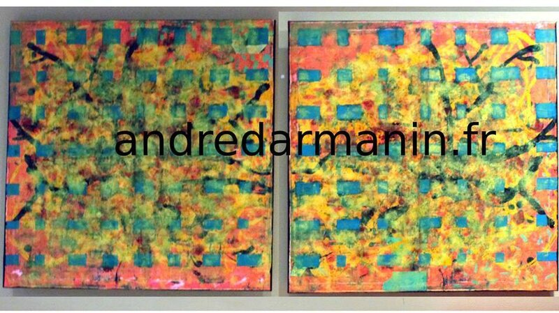 André DARMANIN - ABSTRACT Diptyque