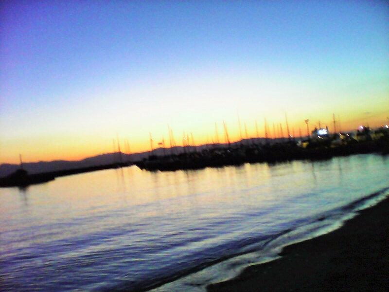 coucher de soleil depuis le Bron 2