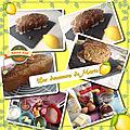 Cake au citron, au fruits infusés et au pavot
