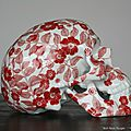 Floral Porcelain Skull by NooN