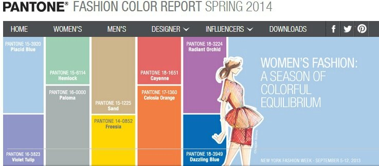 Pantone Fashion Colour Report spring 2014