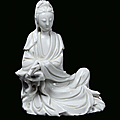 A blanc de chine porcelain guanyin, china, dehua, beginning 18th century