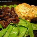 Croustillants de veau aux oignons confits