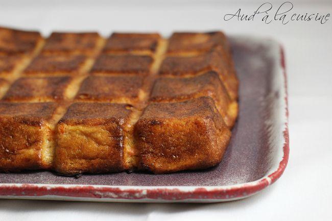 gâteau invisible pommes, abricots & fève tonka - aud' à la cuisine