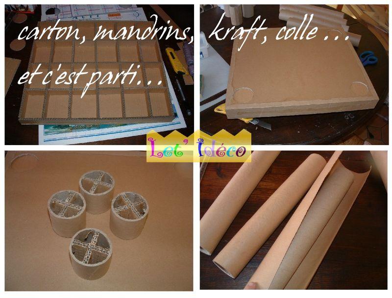 meuble en carton une petite tag re le blog de let 39 ideco. Black Bedroom Furniture Sets. Home Design Ideas