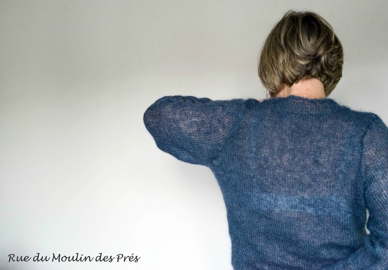 Pull Mohair gris 01