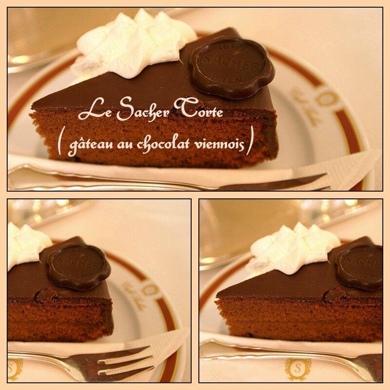 Le Sacher Torte (gâteau au chocolat viennois)